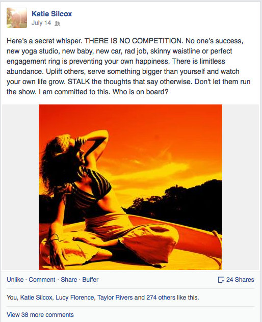 Facebook post competition